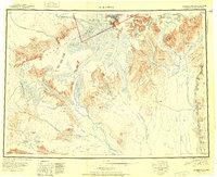Topo map Talkeetna Alaska