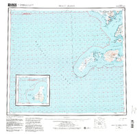 Topo map Trinity Islands Alaska