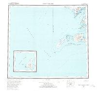 Topo map Trinity Islands Alaska