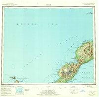Topo map Umnak Alaska