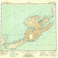 Topo map Unalaska Alaska