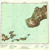 Topo map Unimak Alaska