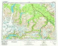 Topo map Valdez Alaska