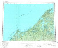 Topo map Wainwright Alaska