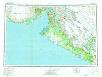 Topo map Yakutat Alaska