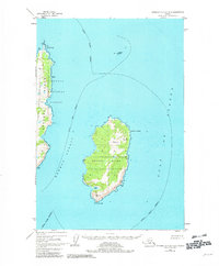 Topo map Afognak A-0 and B-0 Alaska