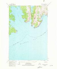 Topo map Afognak A-1 Alaska
