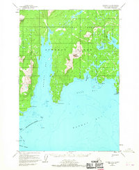 Topo map Afognak A-2 Alaska