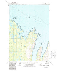 Topo map Afognak B-1 Alaska