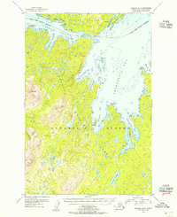 Topo map Afognak B-2 Alaska