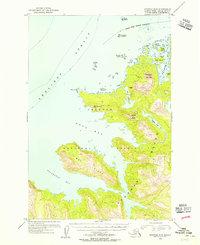 Topo map Afognak B-3 Alaska