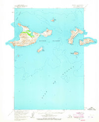 Topo map Afognak D-1 Alaska