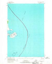 Topo map Afognak D-4 Alaska
