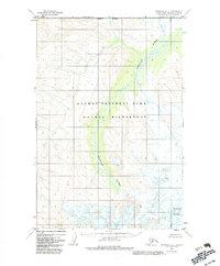 Topo map Afognak D-6 Alaska