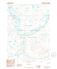 Topo map Ambler River D-5 Alaska