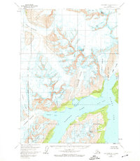 Topo map Anchorage A-4 Alaska