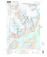 Topo map Anchorage A-4 Alaska