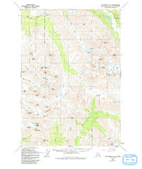Topo map Anchorage A-7 Alaska