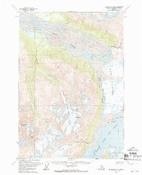 Topo map Anchorage B-5 Alaska