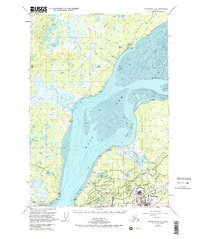 Topo map Anchorage B-8 Alaska