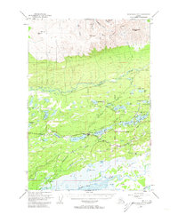 Topo map Anchorage C-7 Alaska