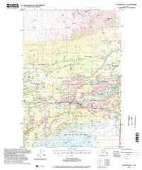 Topo map Anchorage C-7 Alaska