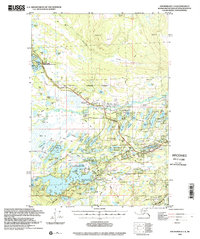 Topo map Anchorage C-8 Alaska