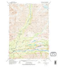 Topo map Anchorage D-4 Alaska