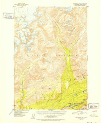 Topo map Anchorage D-5 Alaska