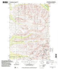 Topo map Anchorage D-7 Alaska