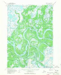 Topo map Bethel D-7 Alaska