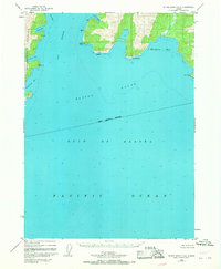 Topo map Blying Sound D-6 Alaska