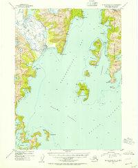 Topo map Blying Sound D-7 Alaska