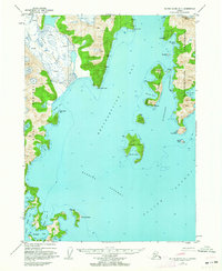 Topo map Blying Sound D-7 Alaska