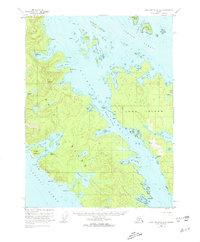 Topo map Dixon Entrance D-3 Alaska