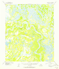 Topo map Fairbanks D-5 Alaska