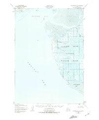Topo map Hooper Bay B-3 Alaska
