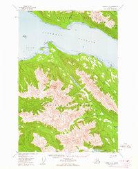 Topo map Juneau A-2 Alaska