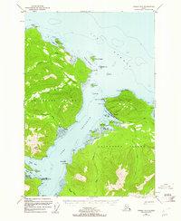 Topo map Juneau A-5 Alaska