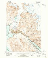 Topo map Juneau B-2 Alaska