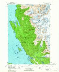 Topo map Juneau C-3 Alaska