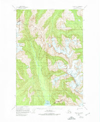 Topo map Juneau C-5 Alaska