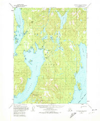Topo map Ketchikan B-4 Alaska