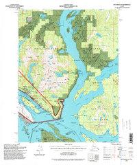 Topo map Ketchikan B-5 Alaska