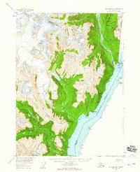 Topo map Ketchikan D-1 Alaska