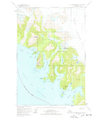 Topo map Mount Fairweather B-3 Alaska