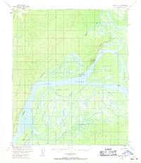 Topo map Nulato D-4 Alaska
