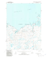 Topo map Nunivak Island B-4 Alaska