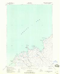 Topo map Nunivak Island B-5 Alaska