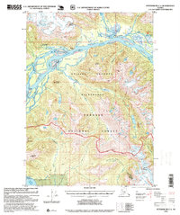 Topo map Petersburg C-1 Alaska